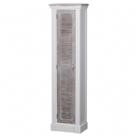 Tall Shabby Chic Louvre Door Cabinet